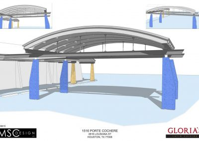 Rendering - Port Cochere Details