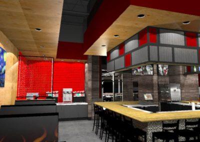 Rendering - Bar and Beverage Station